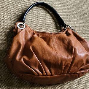 Ellington chestnut leather hobo